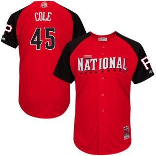 Mens Majestic Gerrit Cole Red Pittsburgh Pirates 2015 All Star Game Player Jersey