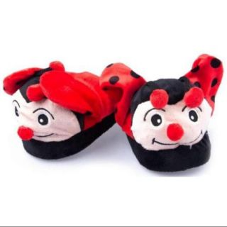 Wacky Walkers Small Red Lady Bug Animated Slippers  Soft Animal Kids & Adults