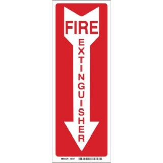 Brady 24 in. x 4 in. Fiberglass Fire Extinguisher with Arrow Sign 71655
