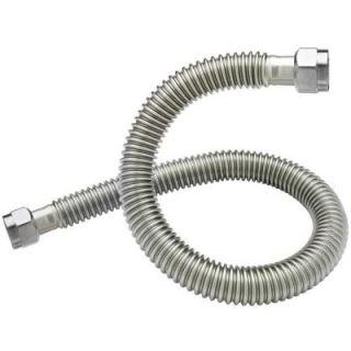 BrassCraft 3/4 in. FIP x 3/4 in. FIP x 24 in. Coated Stainless Steel Water Heater Connector 3/4 in. ID SWB00 24N