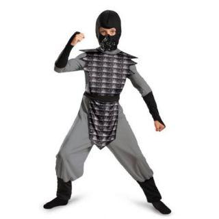 Boys Grey Evil Ninja Halloween Costume size Large 10 12