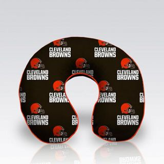 Officially Licensed NFL Memory Foam Travel Pillow By Pegasus Home Fashions   Browns   8186776