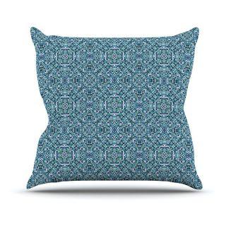 Kess InHouse Allison Soupcoff Ocean Blue Indoor/Outdoor Throw Pillow   Decorative Pillows