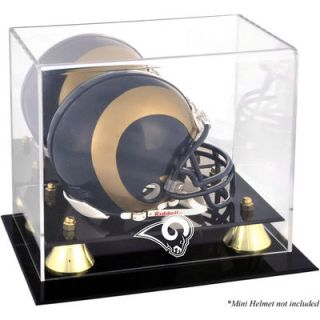 Los Angeles Rams  Authentic Golden Classic Mini Helmet Display Case
