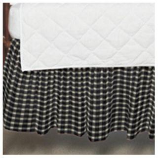 Patch Magic Cream and White Gingham Checks Fabric Crib Dust Ruffle