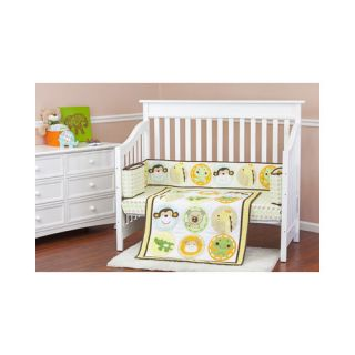 Dream On Me/Mia Moda Animal Kingdom Portable 3 Piece Crib Bedding Set
