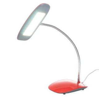 Northwest 12.5 in. Red Desk Lamp with Touch Activated 18 LED USB 72 SL159R