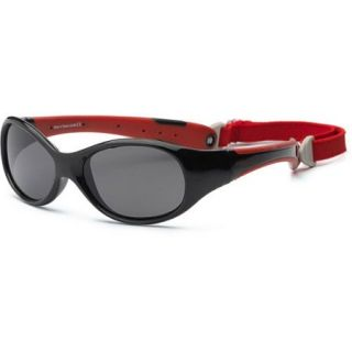Real Kids Black/Red Flex Fit Removable Band Smoke Lens, 4+