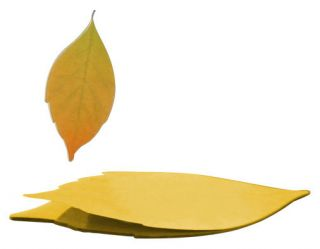 Leaf it Small Sticky notes   Set of 20 paper stickers 1 leaf   Autumn by Pa Design