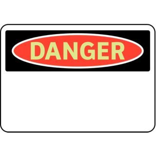 BRADY Danger Sign,7 x 10In,R and BK/WHT,BLK   3GAR1|102428   Grainger