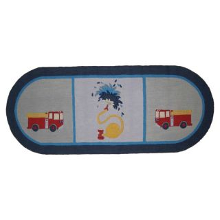 Fire Truck Runner Area Rug by Patch Magic
