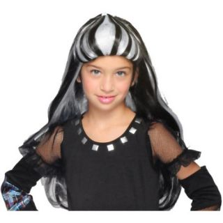 Monster High Black and White Frankie Stein Wig Child Girl Halloween Accesory
