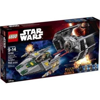 LEGO Star Wars Vader's TIE Advanced vs. A Wing Starfighter 75150