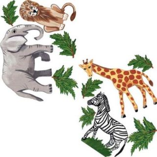 Instant Mural Design IMD 367 Jungle Animal Set, Medium