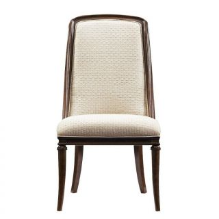 Stanley Furniture 193 11 75 Avalon Heights Olympia Upholstered Host Chair in Dark Woodtone