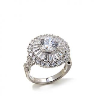 Victoria Wieck 4.54ctw Absolute™ Round and Baguette Flower Ring   8085114
