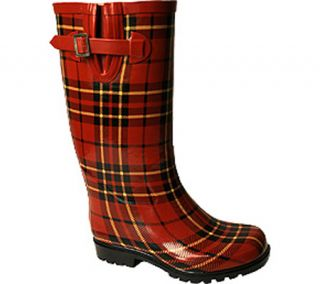 Womens Nomad Puddles Boot   Red/Black Plaid