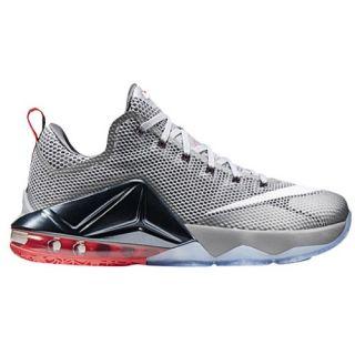 Nike LeBron 12 Low   Mens   Basketball   Shoes   James, LeBron   Hyper Cobalt/Metallic Silver/Light Crimson