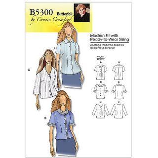Butterick Pattern Misses and Women's Blouse, Women (XXL, 1X, 2X, 3X, 4X, 5X, 6X)