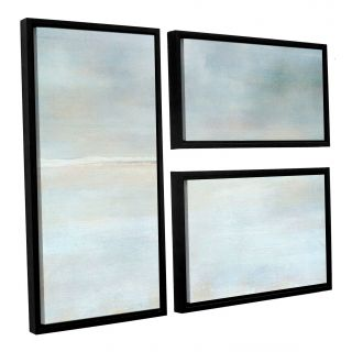 Landscape Snow by Cora Niele 3 Piece Floater Framed Photographic