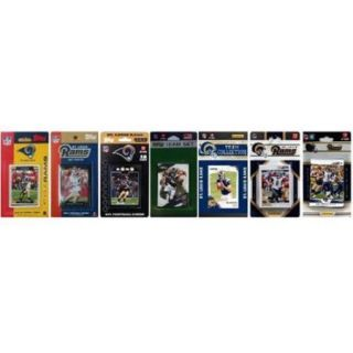 C & I Collectables RAMS712TS NFL St. Louis Rams 7 Different Licensed Trading Card Team Sets