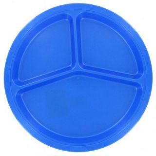 B&R Plastics 10.5'' Divided Picnic Plate