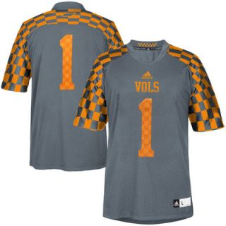 No. 1 Tennessee Volunteers adidas Youth Event Replica Football Jersey – Silver