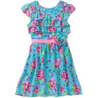 George Girls' Ruffle Front Chiffon Dress