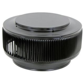 Active Ventilation Aura PVC Vent Cap 10 in. Dia Exhaust Vent with Adapter to Fit Over 10 in. PVC Pipe in Black Powder Coat AV 10 PVC BL