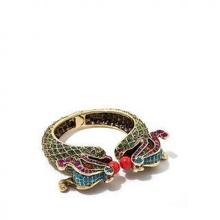 "Heidi Daus ""Power Couple"" Crystal Accented Cuff Bracelet   8179191"