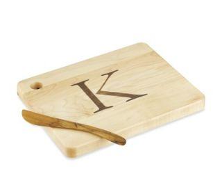 Monogram Cheese Board & Spreader