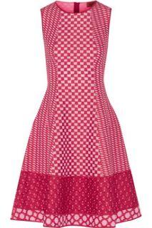Paneled crochet knit cotton blend dress  Missoni