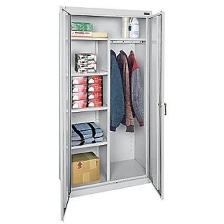 Sandusky Classic Series 72H x 36W x 18D Steel Combination Storage Cabinet, Dove Gray