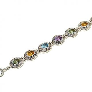 Bali Designs by Robert Manse 15.6ctw Multigemstone Station Line Bracelet   7929023