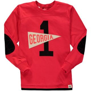 Georgia Bulldogs Wes & Willy Youth Pennant Jersey Long Sleeve T Shirt   Red