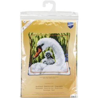 Swan And Cygnet Cushion Cross Stitch Kit   17729177