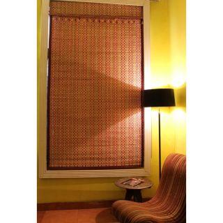 Bamboo Art Roman Shade by Window Dressing