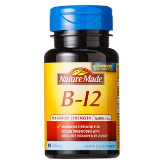 Nature Made Maximum Strength Vitamin B 12 5000 mcg Softgels   60 Count