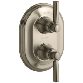 Kohler K T10594 4 BV Bancroft Vibrant Brushed Bronze  Two Handle Thermostatic Control