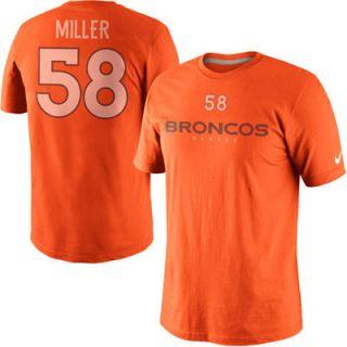 Nike Von Miller Denver Broncos Player Name And Number T Shirt   Orange