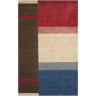 Safavieh Handmade Himalaya Brown/ Multi Wool Rug (3 x 5)