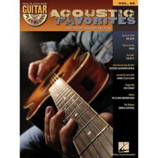 Hal Leonard Acoustic Favorites   Guitar Play Along Series Volume 69 Book and CD