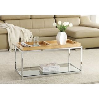 Convenience Concepts Palm Beach Coffee Table with Trays, Multiple Finishes