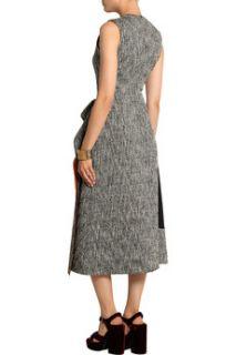 Decker cady paneled tweed midi dress  Roksanda