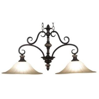 Kenroy Home Leafston 2 Light Mercury Bronze Finish with Brown Marble Accents Island Light DISCONTINUED 80292MBZ