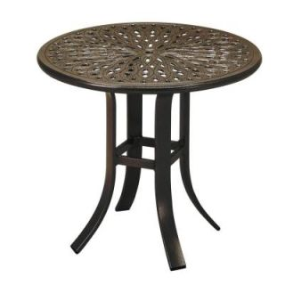 Tradewinds 24 in. Java Cast Aluminum Commercial Patio Occasional Table 24SACMB243M 2