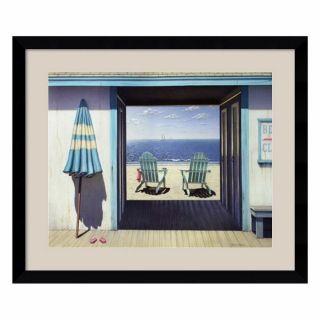 Amanti Art 36.62 in W x 30.62 in H Seascape Framed Art