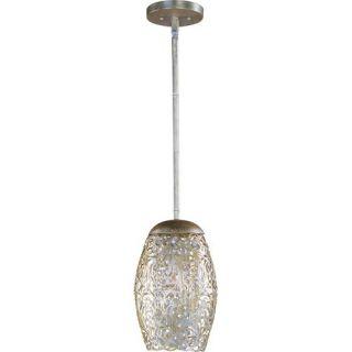 Maxim Lighting 24153BCGS Arabesque 1 Light Mini Pendant in Golden Silver with Beveled Crystal Glass