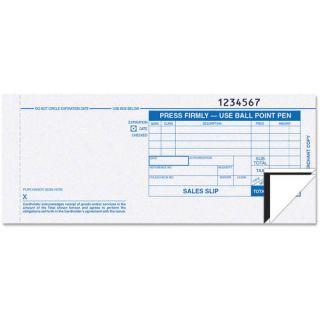 TOPS Credit Card Sales Slip, 7 7/8 x 3 1/4, 3 Part Carbonless, 100 Forms