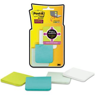 "Post it Notes 2"" x 2"" Super Sticky Full Adhesive Notes, Assorted Colors, 8 Pack"